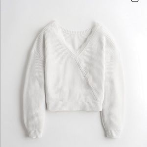 Reversible Lace-Trim Sweater